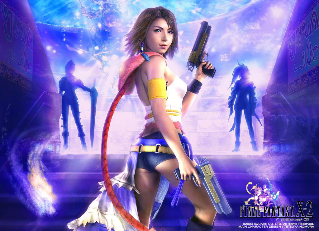 final fantasy 10-2 yuna x-2 ffx-ii ffx-2 ff10-2 wallpaper background square enix jrpg rpg japanese role playing game